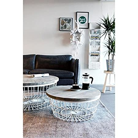 New glory coffee table by boo wire basket with storage space 70 new glory coffee table by boo wire basket with storage space 70 cm greentooth Images