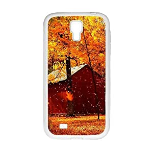 Personalized Creative Cell Phone Case For Samsung Galaxy S4,glam autumn fallen leaves yellow trees