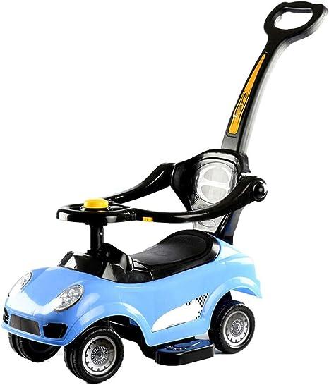 Opinión sobre CLFYOU Coche de empuje 3 en 1 con varilla de empuje Coche de empujar y tirar con andador para bebé para 1 año o cochecito para ancianos con asa para padres