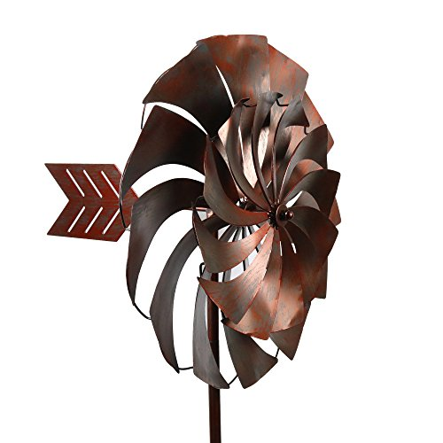 Spinner Vane Style Kinetic Wind Garden Spinner (Triple Garden Spinner Wind)