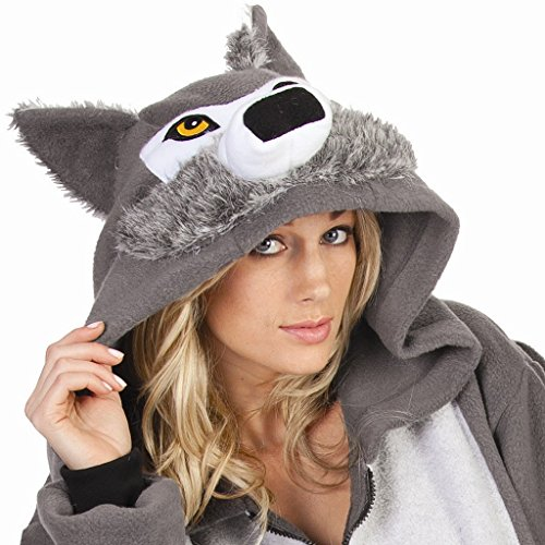 RG Costumes Willie The Wolf Hoodie, Gray, Small (Cool Wolf Costume)