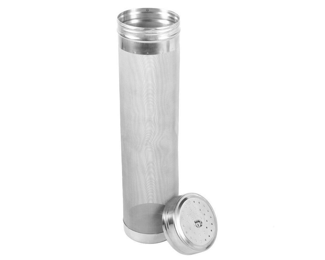 ACE SELECT 2.8 x 11 Inches Stainless Steel Dry Hop Filter 300 Micron Beer Dry Hopper Homebrew Hops Beer and Tea Kettle Brew Filter