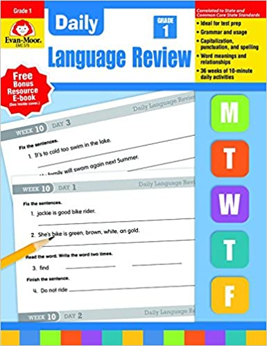 Daily language review grade 1 evan moor 9781557996558 amazon daily language review grade 1 evan moor 9781557996558 amazon books fandeluxe Images