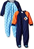 Gerber Baby Boys 2 Pack Zip Front Sleep n Play, Lil Athlete, 0-3 Months