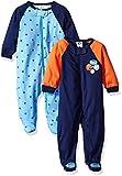 Gerber Baby Boys 2 Pack Zip Front Sleep 'n Play, Lil Athlete, 3-6 Months