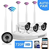 Wireless Security Camera System,Safevant Full-HD 720P 4CH Video Security System with 4pcs 1MP Wireless Weatherproof Bullet Cameras,65ft Night Vision,1TB HDD Pre-installed ,Auto-Pair,Plug& Play Review