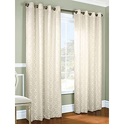 "Common Wealth Home Fashions Anna Lined Lace Panel Pair, Ivory, 104 x 63"",PR"" - Lined for energy savings, light reduction, noise reduction 100Percent polyester, easy care washable Grommet topped for easy installation - living-room-soft-furnishings, living-room, draperies-curtains-shades - 51sswpTCjmL. SS400  -"