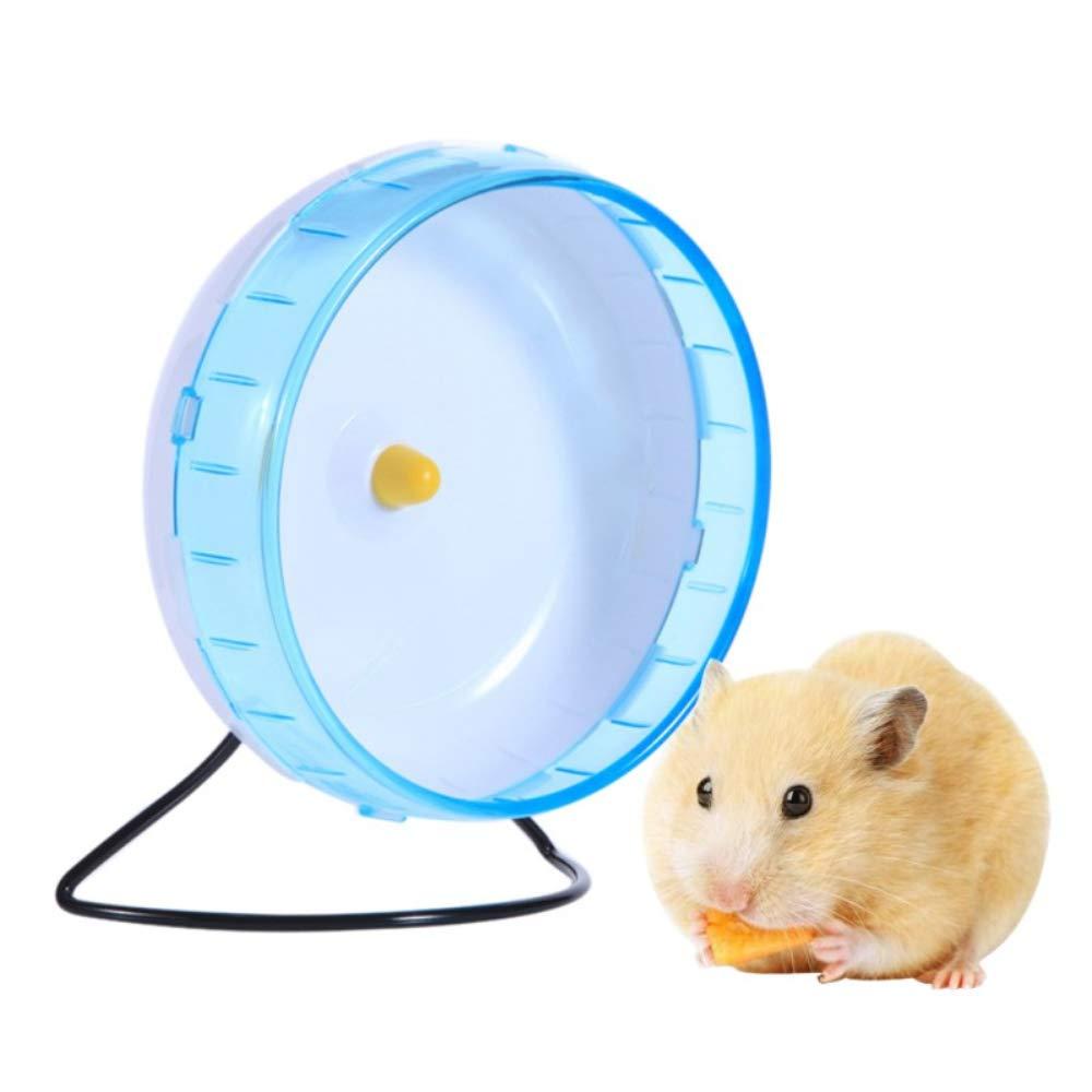 Hianiquaime Jogging Course Spinner Roue d'exercice Sport Jouet Souris Rat Hamster Parrot Petits Animaux 21cm Verte