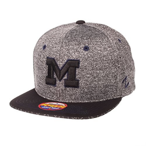 - ZHATS NCAA Michigan Wolverines Children Boys Prodigy Youth Snapback Hat, Youth Adjustable, Gray/Team Color