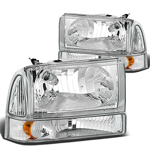 Ford Headlight Assembly (DNA Motoring HL-OH-F99SD4P-CH-AM Headlight Assembly, Driver & Passenger Side)