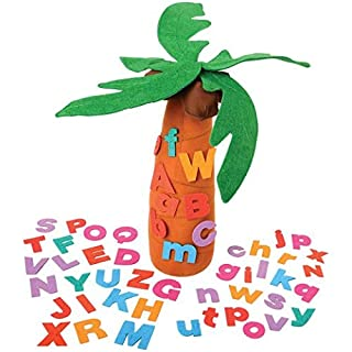 """Constructive Playthings""""Chicka Chicka Boom Boom"""" Tree and Letter Props from The Childhood Favorite Book"""