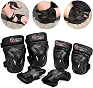 Kids/Youth/Child Knee Pad Elbow Pads Wrist Guards Protective Gear Set for Roller Skates Cycling BMX Bike Skate