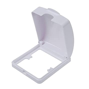 TOOGOO (R) Badezimmer-Wand-Schalter-Schutz-Abdeckung Weiss Plastik ...