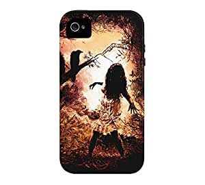 so scary iPhone 4/4s Black Tough Phone Case - Design By Humans