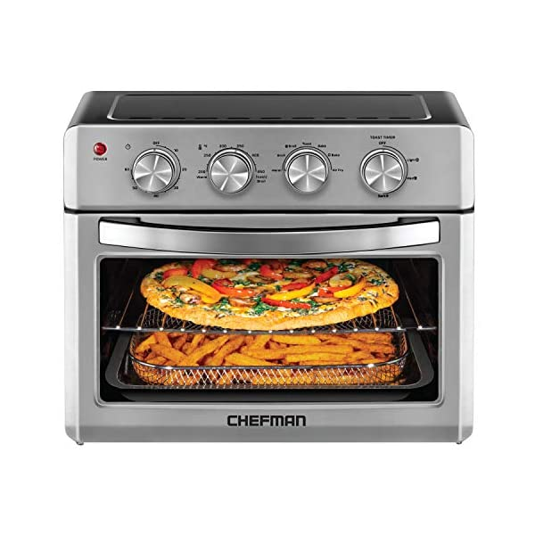 Chefman Air Fryer Toaster Oven, 6 Slice, 26 QT Convection AirFryer w/ Auto Shut-Off,...