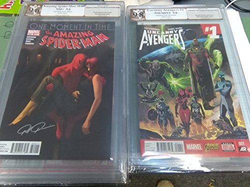 cgc Uncanny Avengers #1 Rick Remender Autograph Dated 3/15 PGX 9.8 Signature Series and Amazing Spider-Man #640 Signed by Paolo Rivera Dated 10/10 PGX 9.6