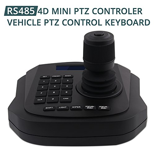 PTZ Controller,LEFTEK Vehicle PTZ Joystick CCTV Keyboard Analog Camera RS485 Controller With LCD Screen Display Menu (4D joystick controller) by LEFTEK