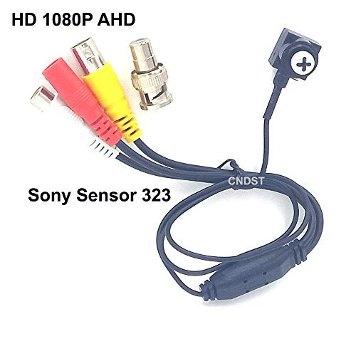 CNDST CCTV 1080P HD AHD Mini cámara de seguridad Espía estenopeica Sony Sensor 3.6mm 90degree 2000Tvl 2MP Mini cámara de vigilancia CCTV oculto: Amazon.es: ...
