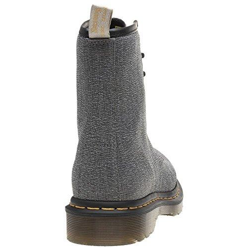 Femme Martens Dr Castel Vegan Boots Gris Metallic tHfdqfF