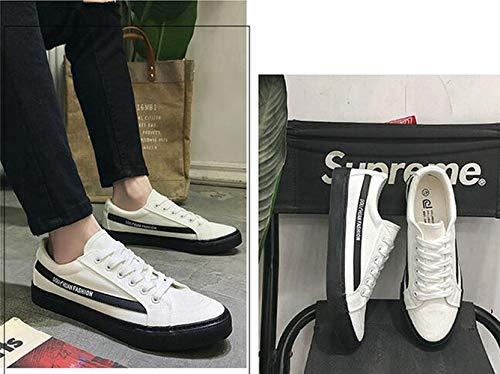 Zapatillas De Fei Blanco Para Eu Lona Negro Hombre 39 Wei qE5xg4OE