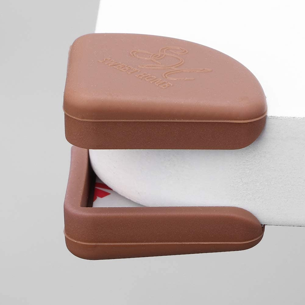 Baby Safety Protector Furniture Kids Corner Protection Bumper High Density Safety Protector 4Pcs Brown