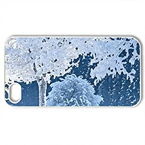 White world in Germany - Bavaria - Case Cover for iPhone 4 and 4s (Winter Series, Watercolor style, White)