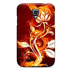 High Quality Hzc2129lcGS Flower Fire Tpu Case For Galaxy S4