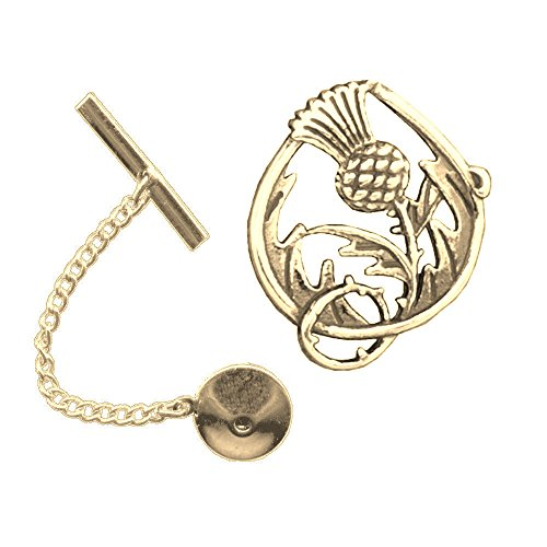 Spirit of Scotland Double Sided Tie Tack ~14K Gold by Celtic Studio