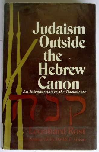 Judaism outside the Hebrew canon: An introduction to the documents