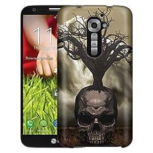 LG Verizon G2 Case, Slim Fit Snap On Cover by Trek Tree Skull Case