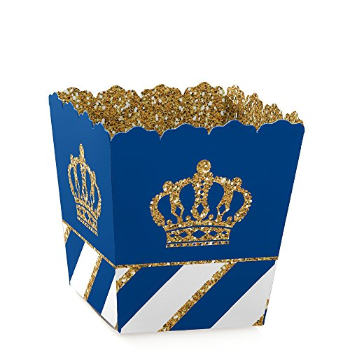 Royal Prince Charming - Party Mini Favor Boxes - Baby Shower or Birthday Party Treat Candy Boxes - Set of 12]()