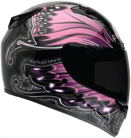 Bell Monarch Women's Vortex - Black and Pink Motorcycle Helmet