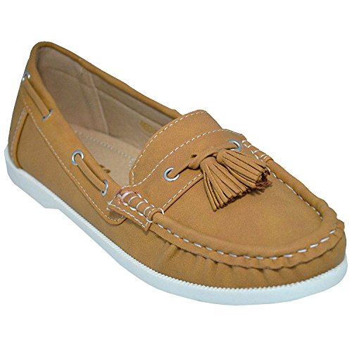 Studio 38 Women's Neena-17 Boat Shoes, Beige