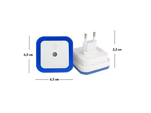 Marsson Luz de Noche con Sensor - Ideal como Quitamiedos para niños, Habitaciones de bebé, Luz de Cocina, Baño, Pasillo y Recibidor (Azul): Amazon.es: ...