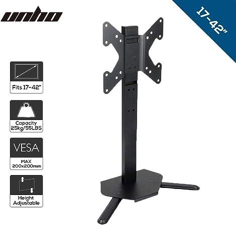 UNHO Pedestal Soporte de TV para Monitor de Mesa, Soporte de ...
