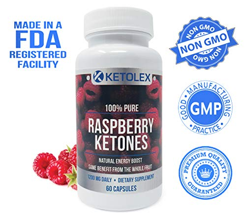 100% Pure Raspberry Ketones, Advanced Natural Weight Loss Supplement, 1200mg of All Natural & Max Strength Diet Pills…