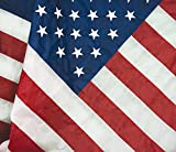 Flagsource American Flag Heavy Duty Nylon Embroidered Stars Sewn Stripes – Certified The FMAA Made in USA (30×60′)