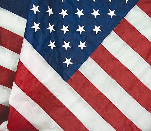 (FlagSource FMAA Certified PolyExtra Polyester American Flag with Embroidered Stars and Sewn Stripes, Made in The USA, 3x5')