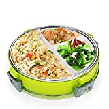 Stainless Steel Bento Lunch Box Set By WDHouse, Leakproof Food Storage Container For Adults and Kids, Meal Prep, Sandwish/Snack Lunch Kit,Dishwasher Safe -Green