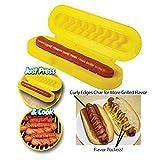 Hotdog Slicer, Honana Spiral Hot Dog Slicer Set and Sausage Cutter Slice, BBQ Grill Spiral Hot Dog Sausage Slicer Cutter and Bread Baking Device Meat Tool, Hot Dog Sausage Slicers Cooking Set