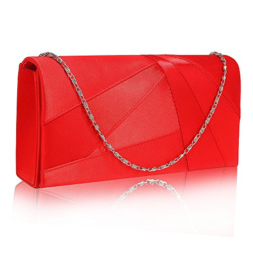 Purse Evening Women Clutch New Hard Case 1 Party For look Wedding Luxury Bag Handbag Designer Ladies Red Design Satin 5ZdIq5