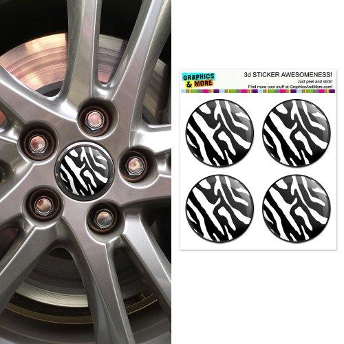 Zebra Print Center Stickers Badges