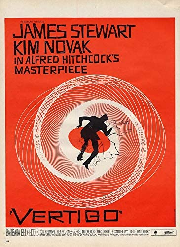Alfred Hitchcock's Vertigo MOVIE MAGAZINE AD 1958 James Stewart Kim Novak  at Amazon's Entertainment Collectibles Store