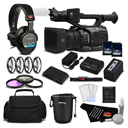 Panasonic AG-UX90 4K/HD Professional Camcorder Deluxe Bundle -International Version