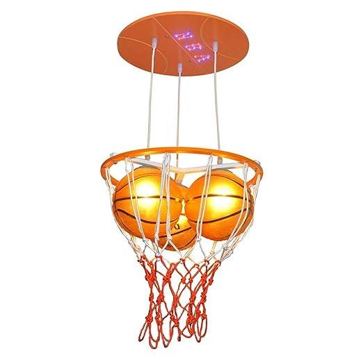 XYJGWDD Lámpara Colgante de Dibujos Animados Creativo Baloncesto ...