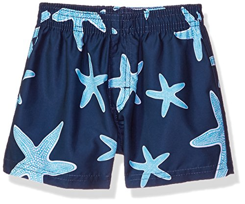 Kanu Surf Baby Boys Starfish Sea Life Quick Dry Beach Board Shorts Swim Trunk, Navy, 24 Months - Life Boardshort
