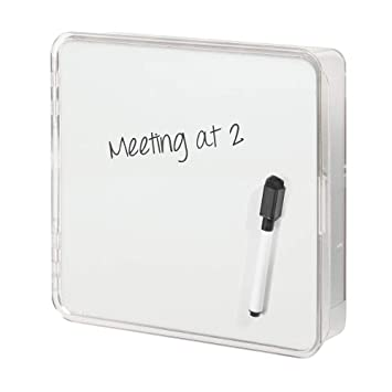 mDesign Colgador de llaves con pizarra - Estante de pared para ordenar llaves con 4 ganchos - Moderno cuelga llaves con organizador de cartas, lentes, ...