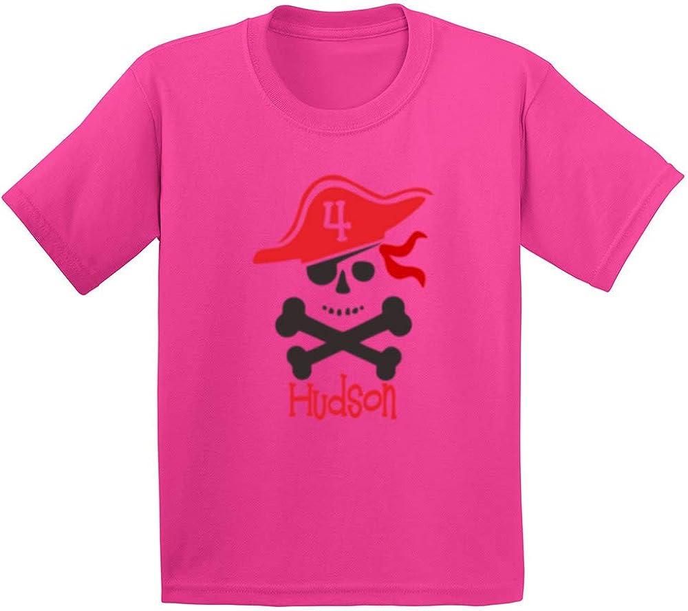 Loo Show Pirate Hat Monogram Cool Youth//Toddler Kids T-Shirt Boys Shirts