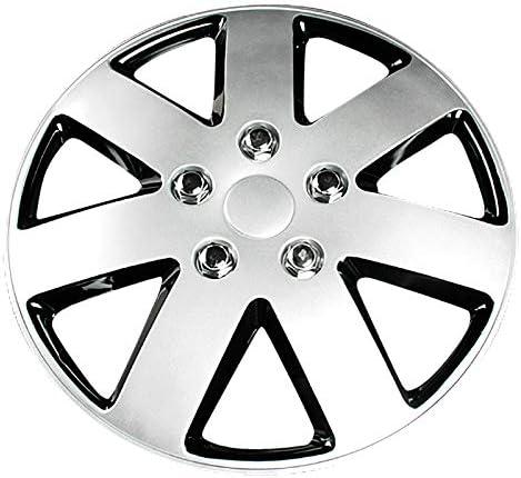 ホイールカバー 15インチ 4枚 ホンダ フリード (シルバー&ブラック)<br>「ホイールキャップ セット タイヤ ホイール アルミホイール」