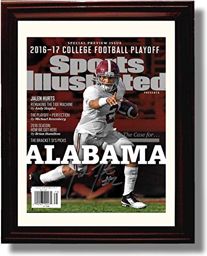 "Framed Jalen Hurts ""The Case for Alabama"" Crimson Tide SI Autograph Replica Print"